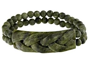 Green Connemara Marble Stretch Bracelet