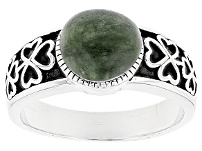 Green Connemara Marble Silver Ring