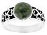 Green Connemara Marble Silver Ring