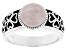 Pink Rose Quartz Silver Ring