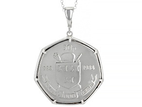 Coin Sterling Silver Enhancer With Chain