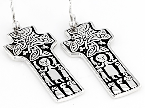 Sterling Silver St. Patrick Earrings