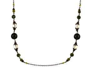 Green Connemara Marble Brass Necklace