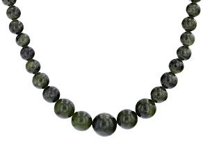 Green Connemara Marble Silver Over Brass Necklace