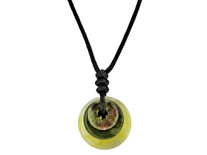 Green Connemara Marble Silver Over Brass Necklace