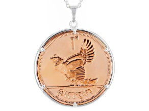 Coin Sterling Silver Pendant With Chain