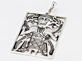 Sterling Silver Rectangular Viking Man Enhancer
