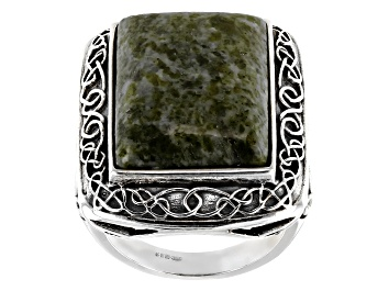 Picture of Green Connemara Marble Silver Ring