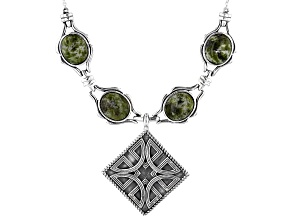 Green Connemara Marble Silver Necklace
