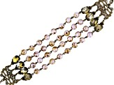 Multi Color Glass Bead New Castleton Bracelet