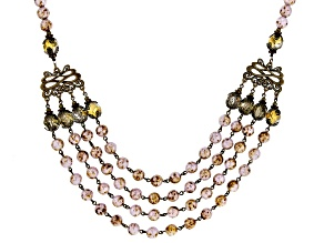 Multi Color Glass Bead 4-Strand Necklace