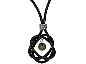 Picture of Green Connemara Marble Imitation Leather Necklace