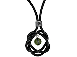 Green Connemara Marble Imitation Leather Necklace