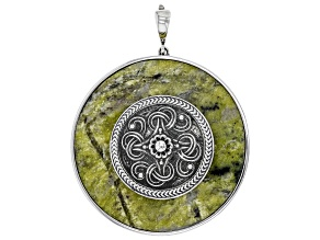 Connemara Marble Sterling Silver Viking Shield Enhancer