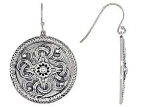 Sterling Silver Viking Shield Earrings