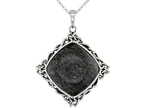 Connemara Marble Sterling Silver Celtic Pendant With Chain