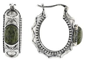 Connemara Marble Sterling Silver Hoop Earrings