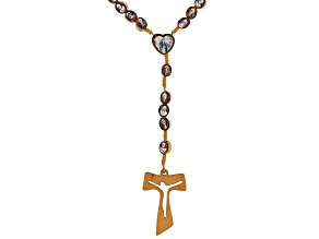 Wooden Bead Saints Rosary