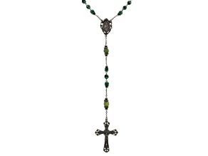 Connemara Marble And Glass Bronze Tone Irish Rosary
