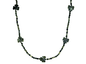 Connemara Marble Shamrock Beaded Necklace Strand