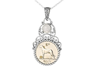 6 Pence Coin, Sterling Silver Pendant Chain