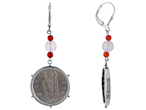 6 Pence Coin Sterling Silver Earrings