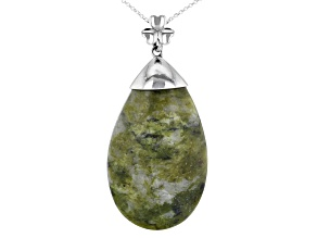Connemara Marble Silver Pendant W/Chain