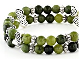 Connemara Marble Beaded Stretch Bracelets Set of 2