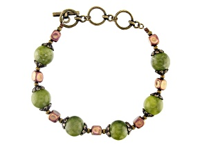 Connemara Marble Bead Antique Tone Bracelet