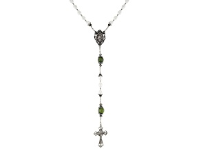 Connemara Marble Silver Tone Rosary