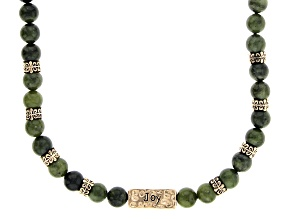 Connemara Marble Gold-Tone Over Brass Joy & Faith Necklace