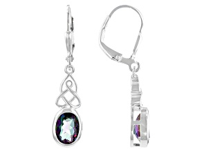 Quartz Sterling Silver Earrings 2.23ctw