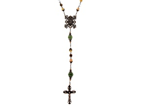 Connemara Marble Antiqued Gold-Tone St. Michael Protection Rosary