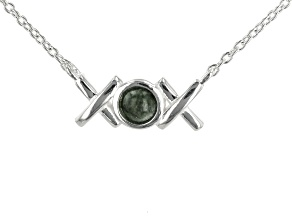 Connemara Marble Sterling Silver XOXO Necklace