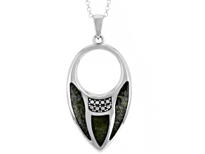 Green Connemara Marble Sterling Silver Pendant