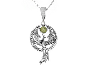 Connemara Marble Phoenix Sterling Silver Enhancer With Chain