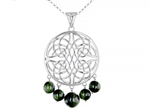 Connemara Marble Sterling Silver Celtic Knot Enhancer With Chain