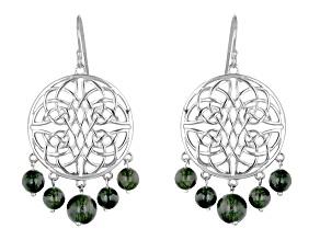 Connemara Marble Sterling Silver Celtic Knot Earrings