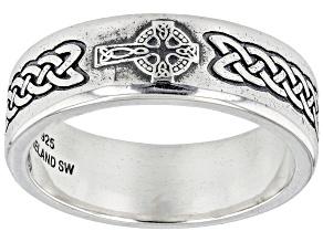 Celtic Sterling Silver Men's Band Ring