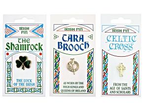 Set of 3 Irish Gold-Tone Pins