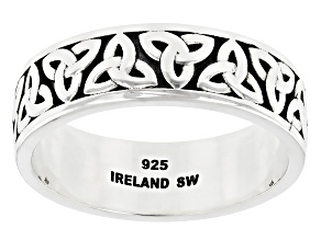Sterling Silver Trinity Design Band Ring