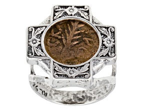 Festus Palm Branch Coin Sterling Silver Ring