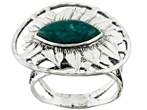 Green Eilat Sterling Silver Ring