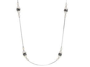 White Culltured Freshwater Pearl Sterling Silver Necklace