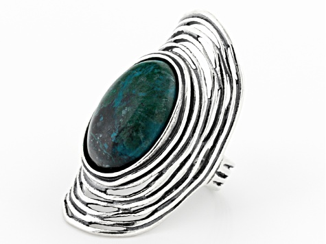 Green Eilat Stone Sterling Silver Ring