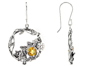 Yellow Citrine Sterling Silver Earrings 1.44ct