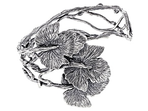 Sterling Silver Grape Leaf Cuff Bracelet