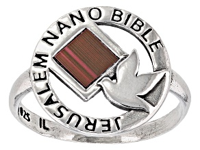 Sterling Silver Nano Bible Ring