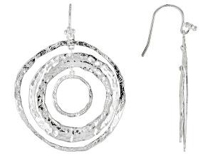 Silver circle dangle Earrings
