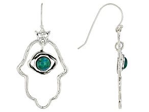 Green Eilat Silver Earrings